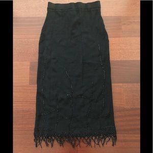 NWT ABS Black Embellished Skirt